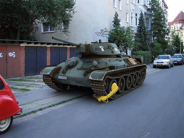 Tanque de guerra.
