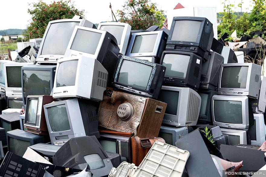 Televisores desechados.