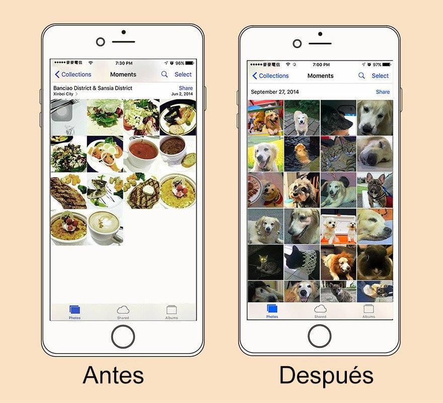Nuestras fotos en el celular cambian radicalmente