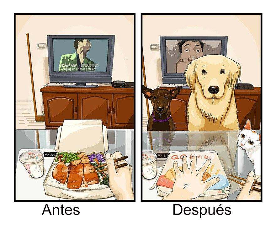 Comer solo es placentero, pero comer acompañado se vuelve fastidioso