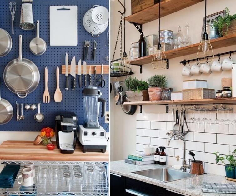 9 ingeniosas ideas para aprovechar el espacio en cocinas peque as tuul - Aprovechar cocinas pequenas ...