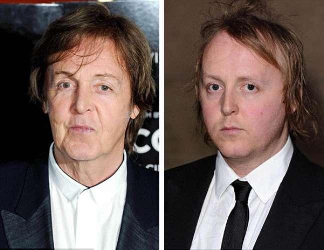 Paul y James McCartney.