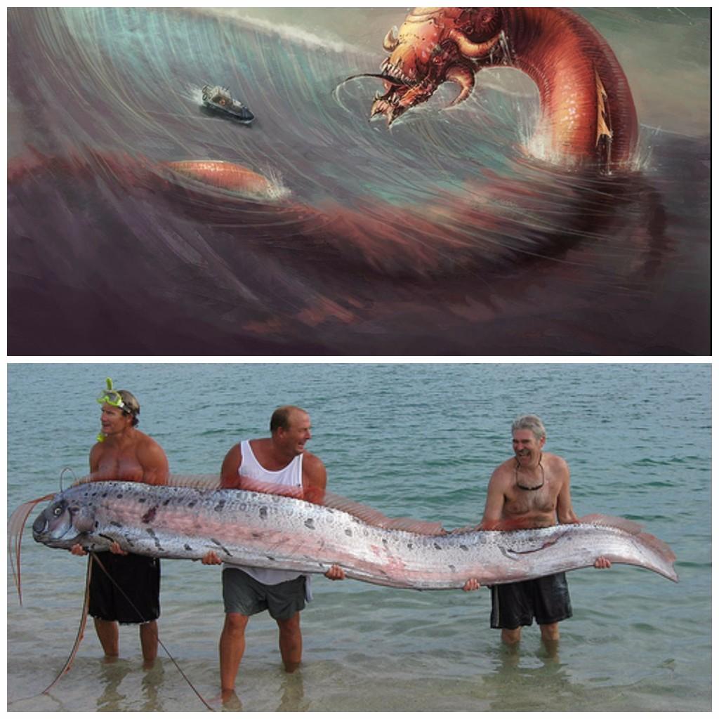 Serpientes gigantes marinas.