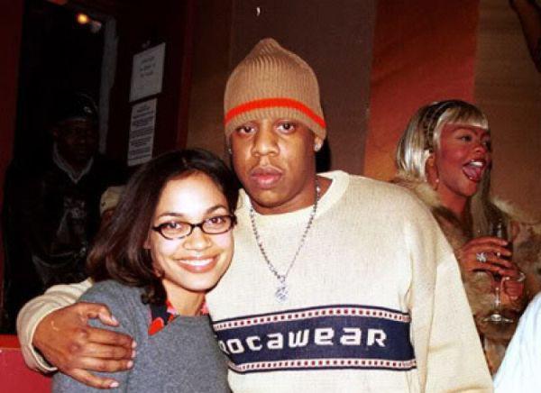 Rosario Dawson y Jay Z.