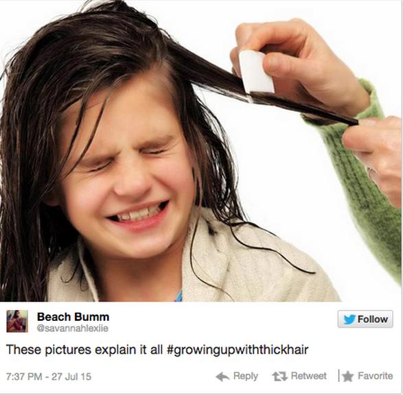 Tu cara cuando alguien más cepilla tu cabello