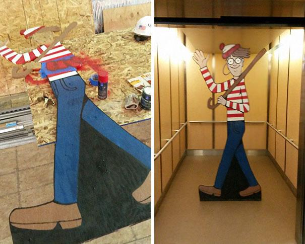 Por esa misma razón decidió hacer un Waldo de 8 Pies de altura