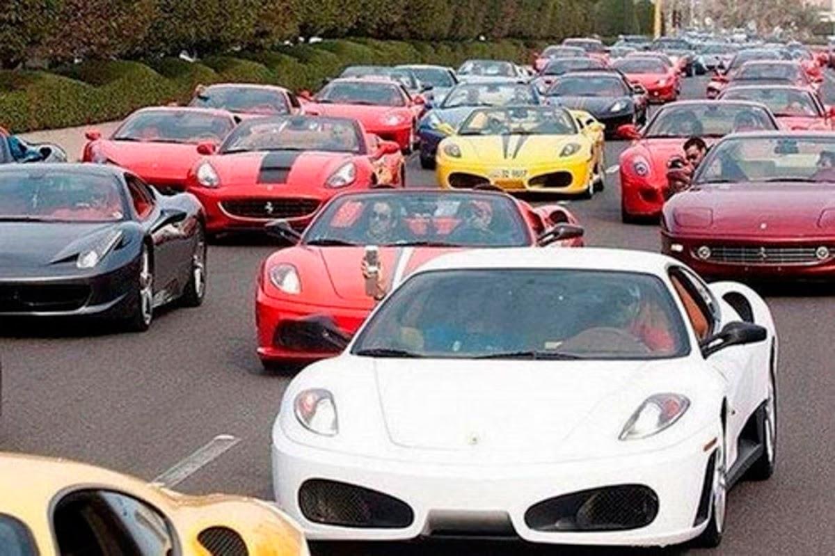 Tráfico en Dubai.