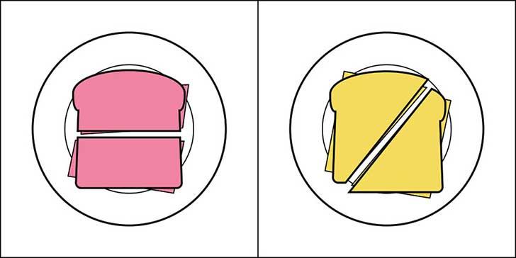El sándwich.