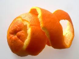 Usar cáscara de naranja
