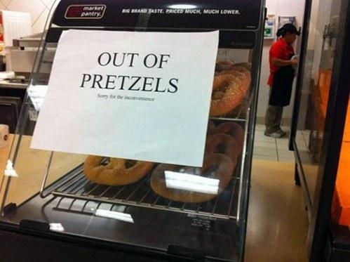 Ya no hay pretzels.