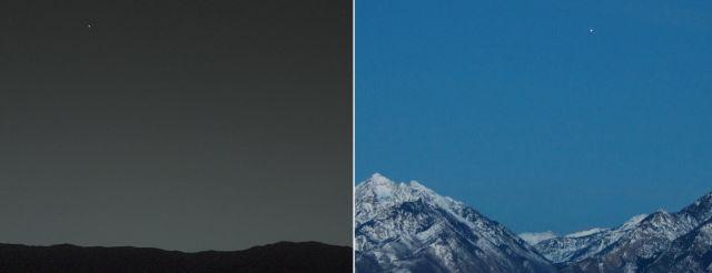 Marte y la Tierra.