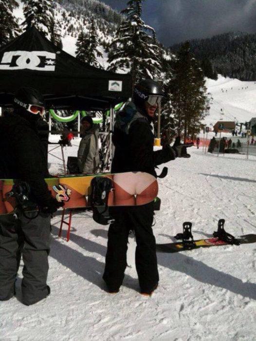 Mucho frío para llevar bikini.