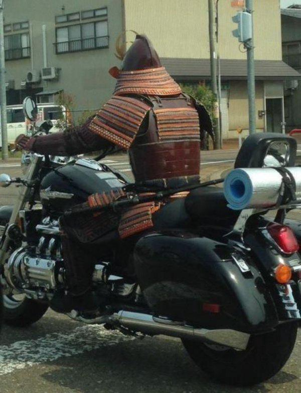 Ninja motorizado.