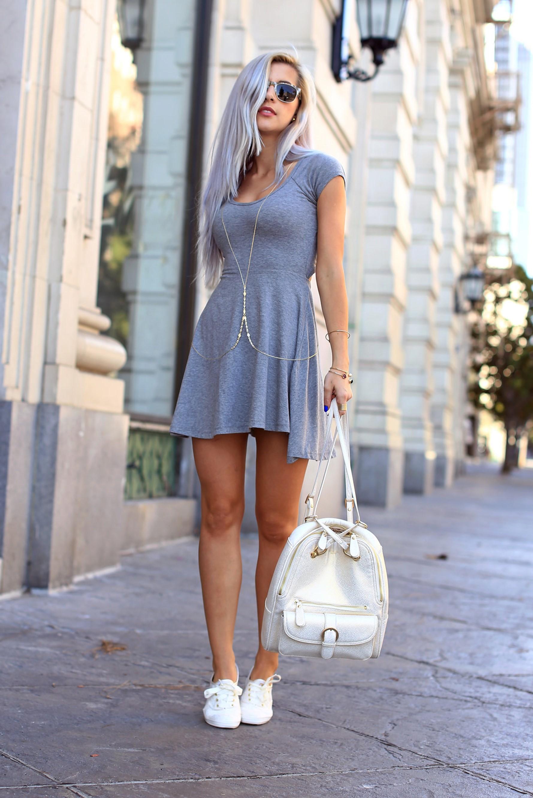 Vestido de tenis blanco