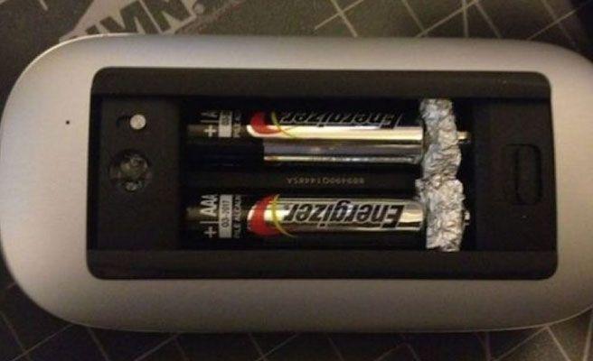 Baterías AAA.