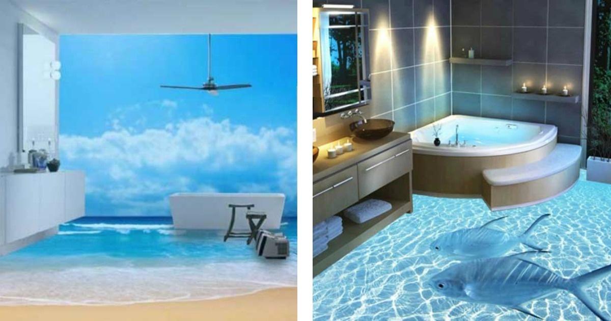 Los pisos de ba o en 3d m s asombrosos del mundo la casa - Banos en 3d ...