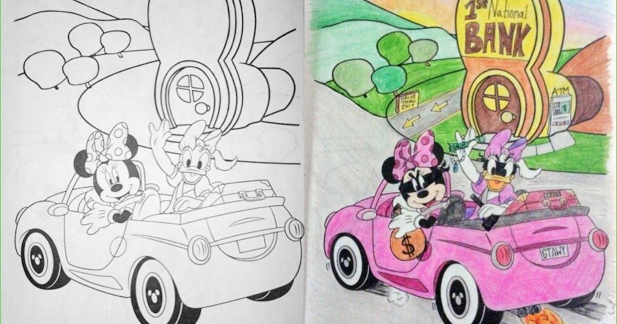 11 Dibujos infantiles para colorear que fueron arruinados por los ...