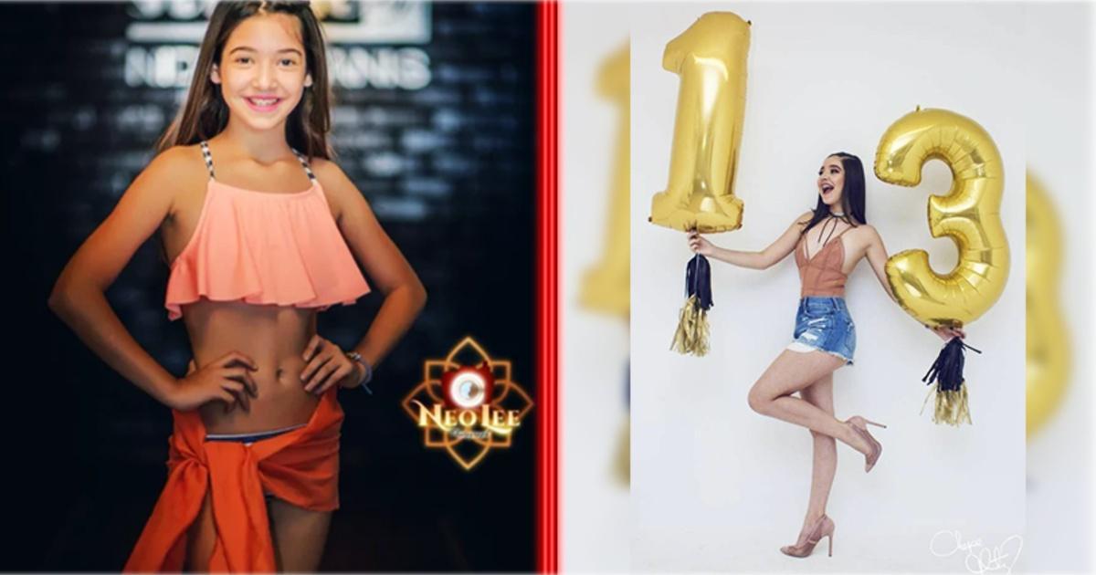 Mira las atrevidas fotos de cumpleaños de esta niña de 13 años que han causado gran polémica.
