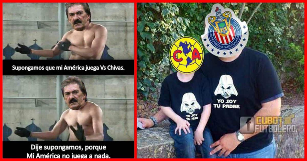 Los mejores memes que dejo el clásico nacional entre Chivas vs América