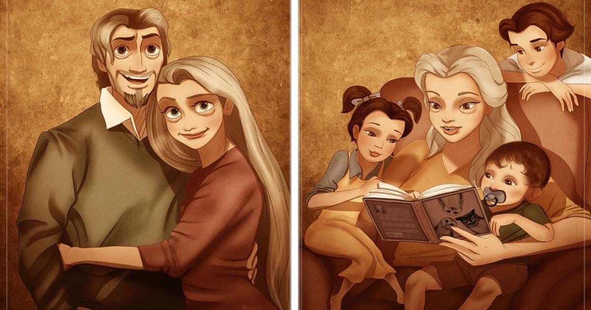 Así Lucirían Los Personajes De Disney Como Tiernos Abuelitos Qué
