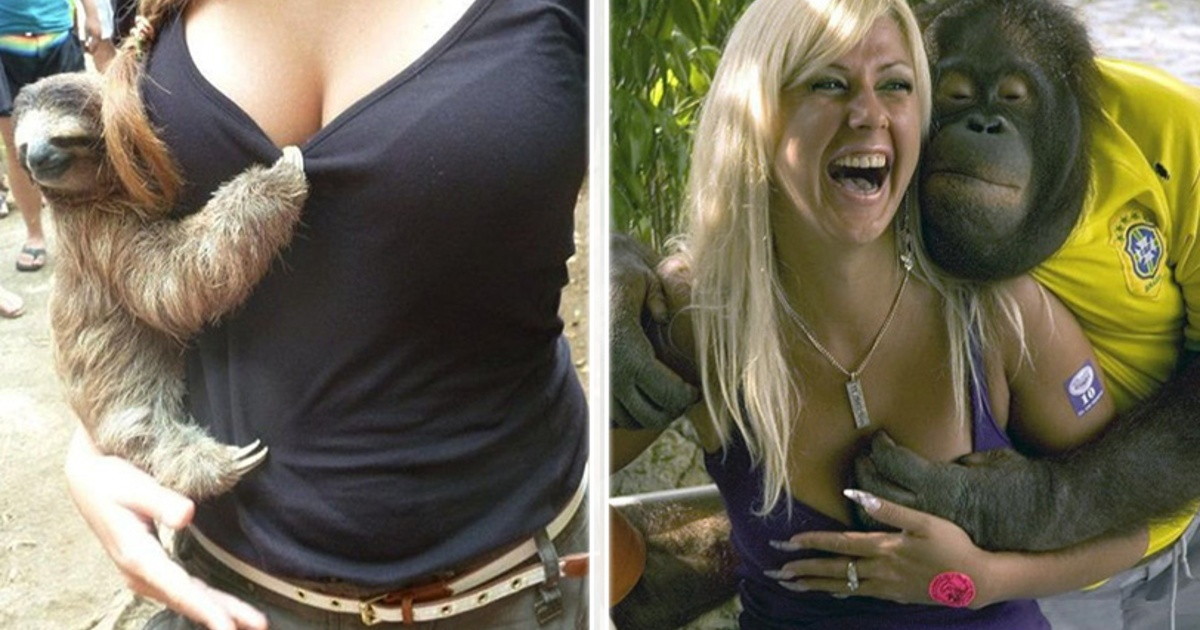 10 Divertidas fotos de animales seduciendo a chicas guapas! | La ...
