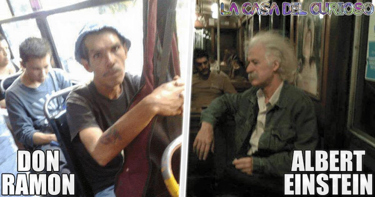 13 Famosos tomando el autobús... ¡Son idénticos!