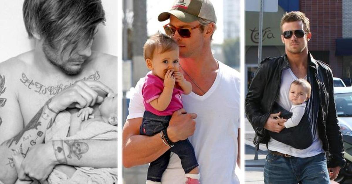 9 Padres famosos que dejan el glamour a un lado y son lo más tierno cuando están con sus hijos.