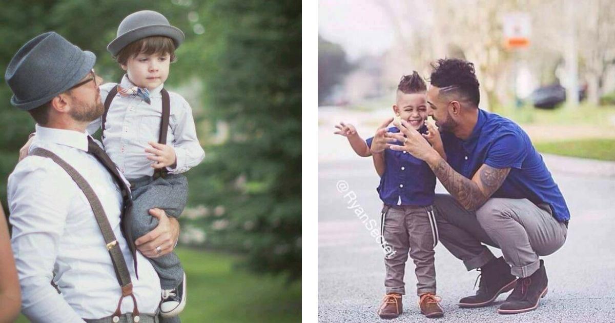 Padres e hijos que tienen tremendo estilo
