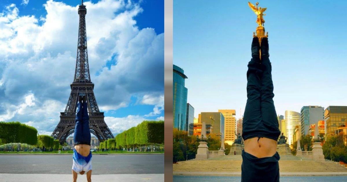 De cabeza por importantes monumentos culturales del mundo