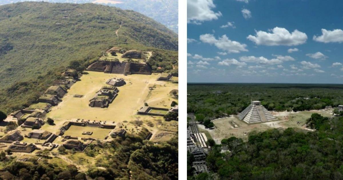 Conoce los mejores sitios arqueológicos de México desde las alturas