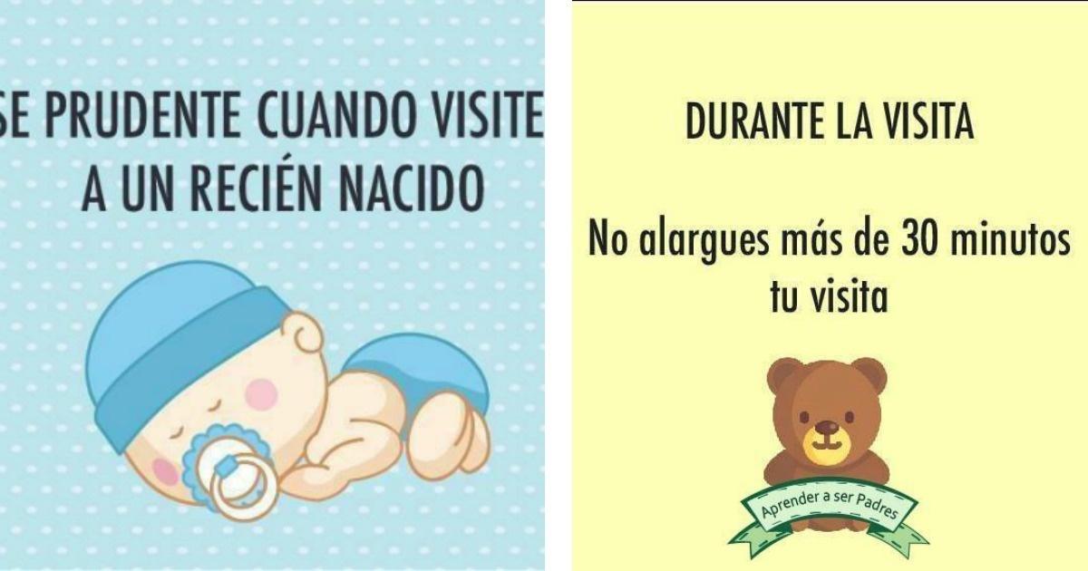 8 consejos que debes hacer cuando visites a un recién nacido