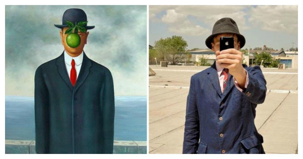 12 Pinturas famosas que fueron reinventadas como fotografías