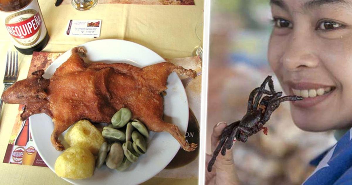 Las 10 comidas más raras, asquerosas y bizarras del mundo.