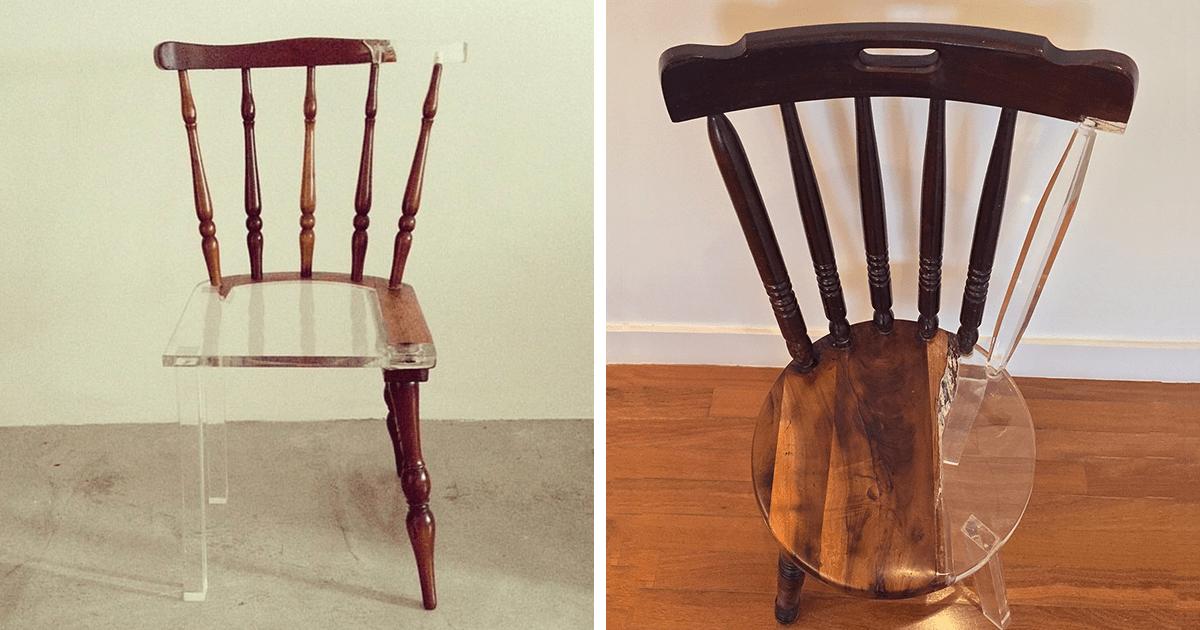 Esta artista restaura viejos muebles de madera con materiales translúcidos de manera genial. ¡Quiero uno así!