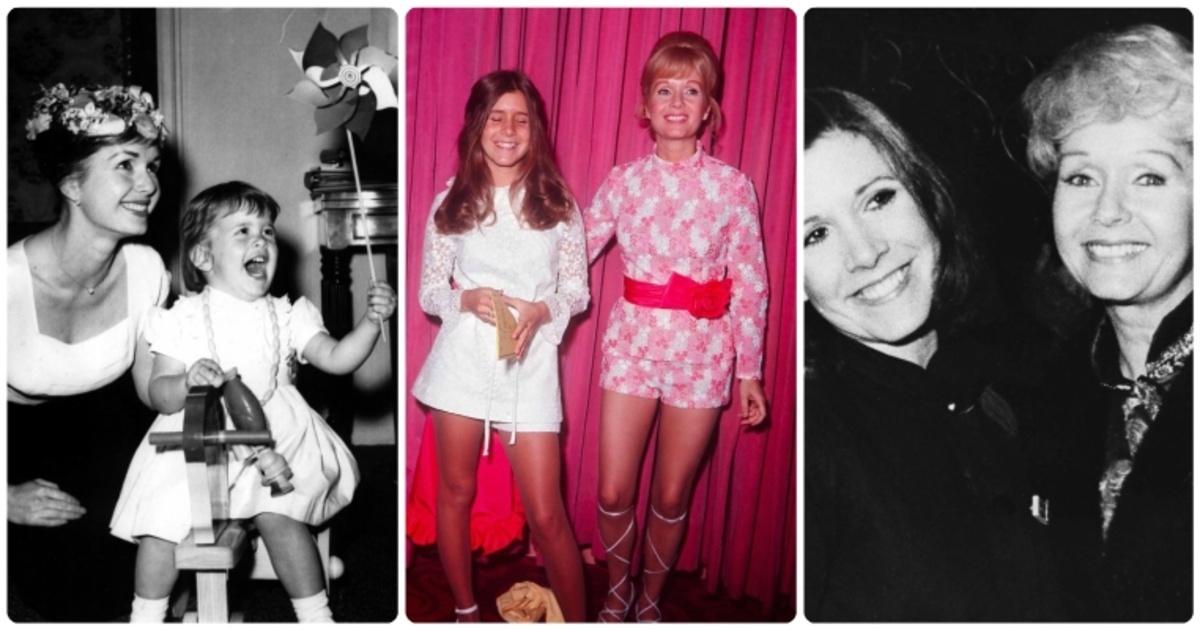 18 emotivas fotos antiguas de Carrie Fisher y su madre Debbie Reynolds creciendo juntas.