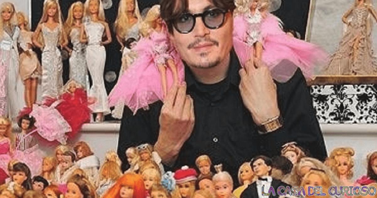 10 Famosos con pasatiempos muy extraños ¡Johnny Deep colecciona Barbies!