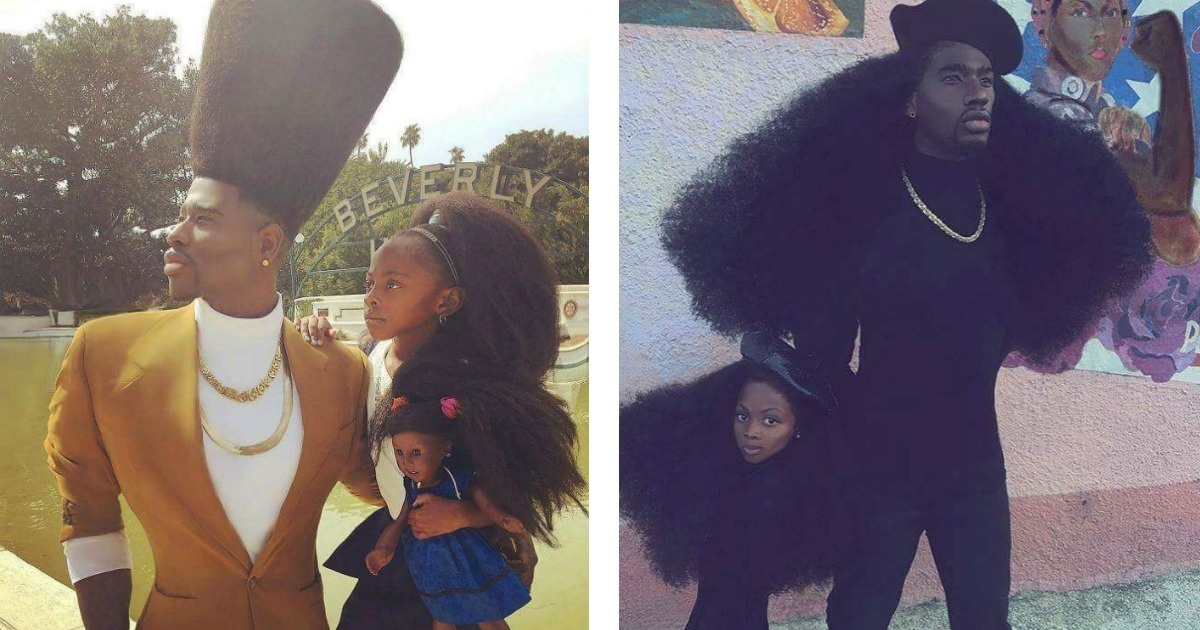 El padre e hija que están revolucionando las redes con sus peinados
