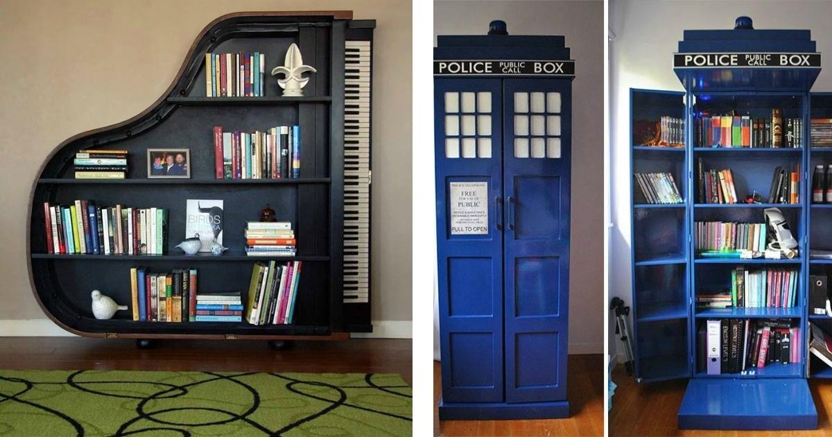 No sabes dónde poner tus libros. Aquí geniales ideas.