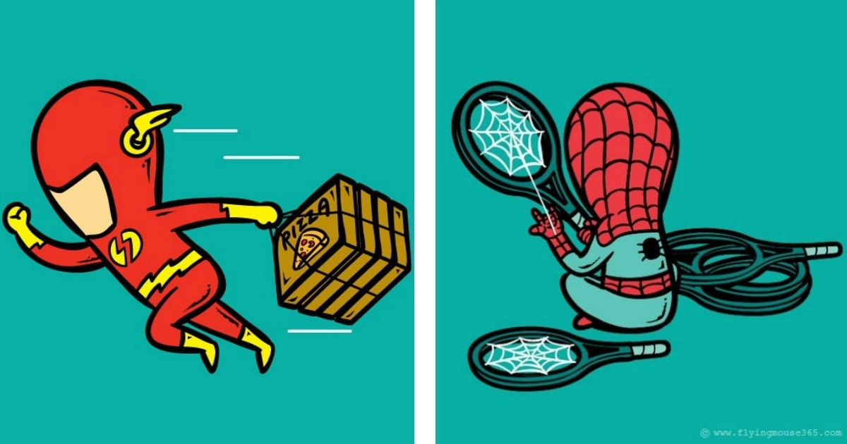 11 Dibujos de personajes haciendo lo que realmente deberían hacer...
