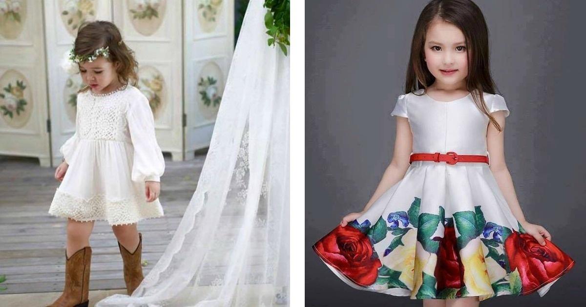 Mira estos 20 hermosos vestidos para las princesas del hogar.