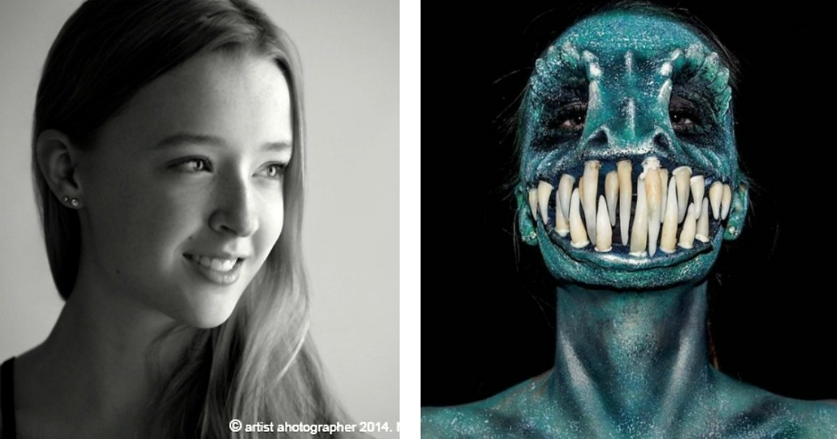 13 fotos de esta jovencita de 16 años que ha decidido transformarse en un monstruo.