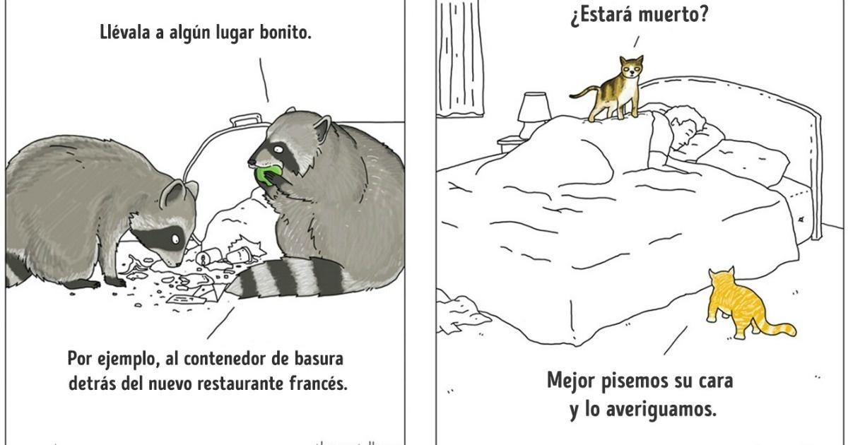 12 Divertidos cómics de lo que dirían los animales si hablaran