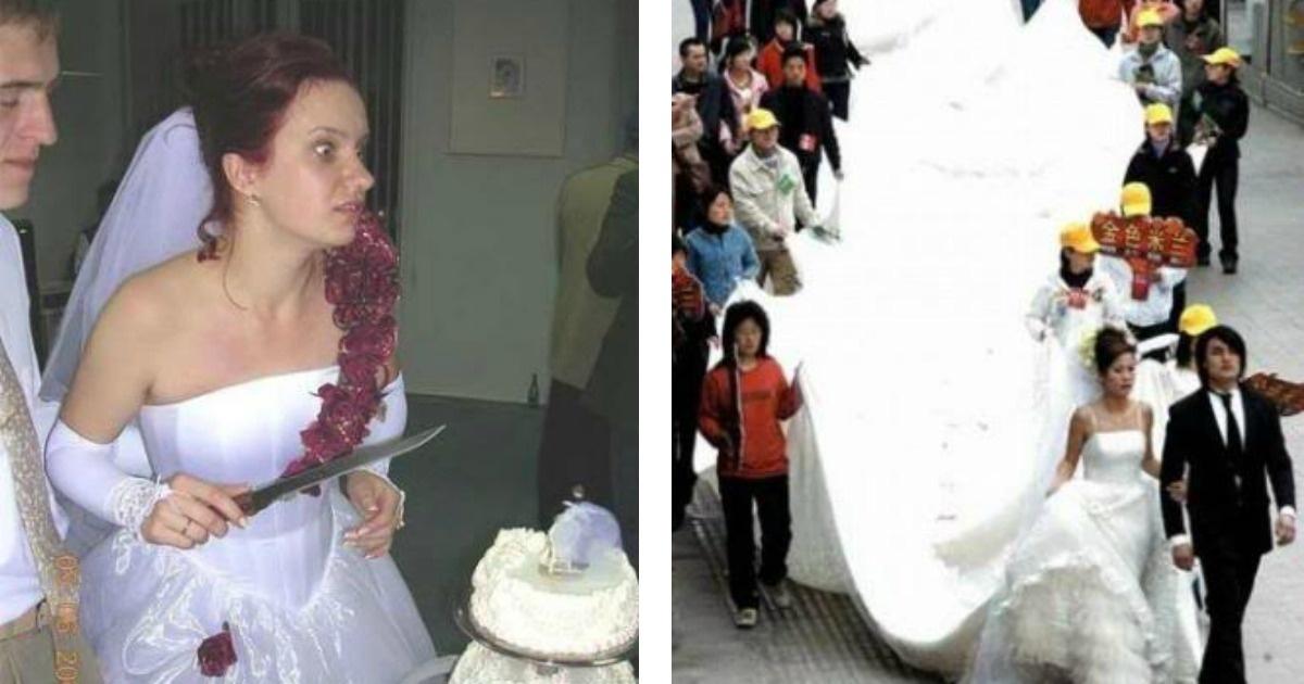 Las fotos más extrañas y locas de novios recién casados
