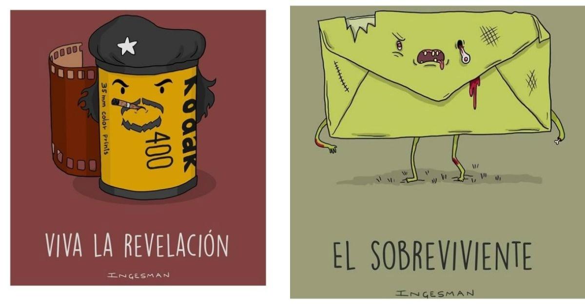 10 Divertidas ilustraciones hechas con juegos de palabras