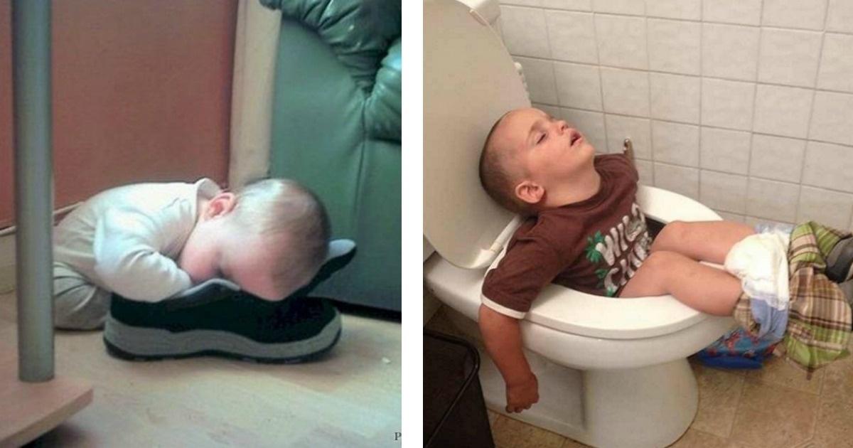 10 Fotos que prueban que los niños duermen en cualquier parte...