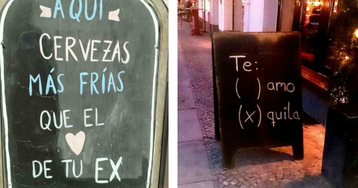 Graciosos carteles de restaurantes que se han ganado a la clientela
