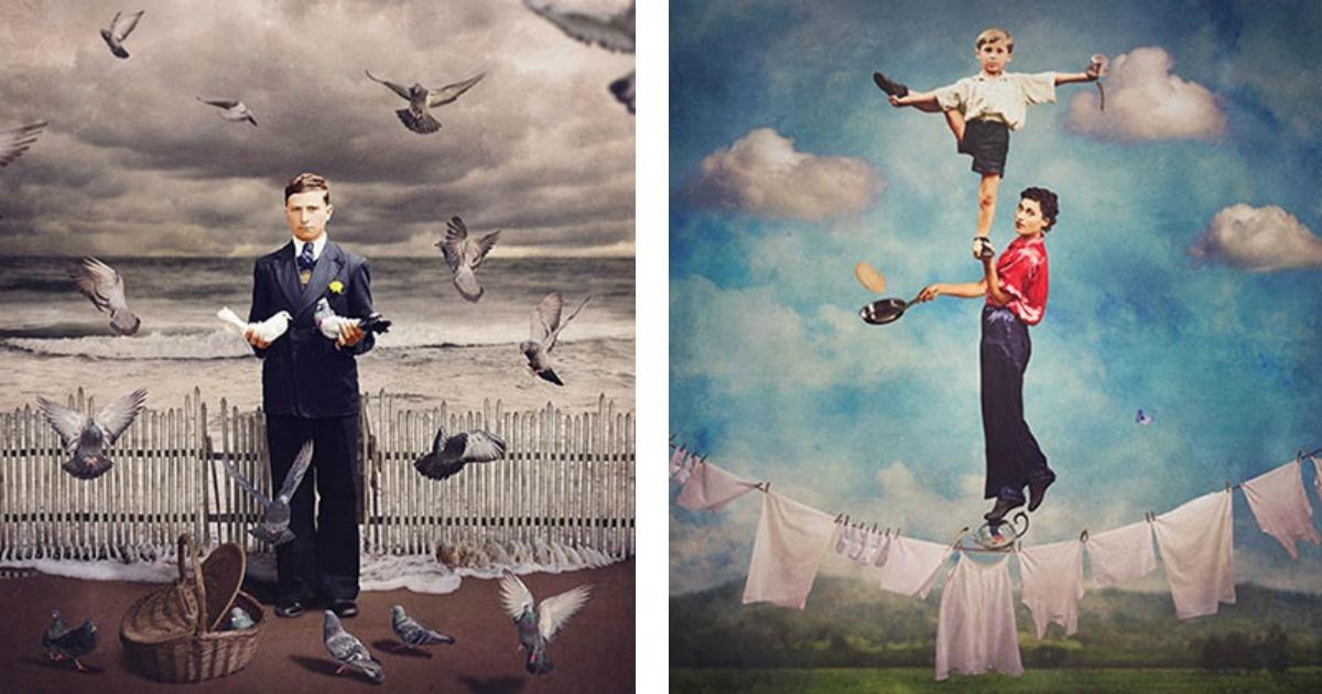 8 Fotografías históricas que fueron convertidas en obras surrealistas