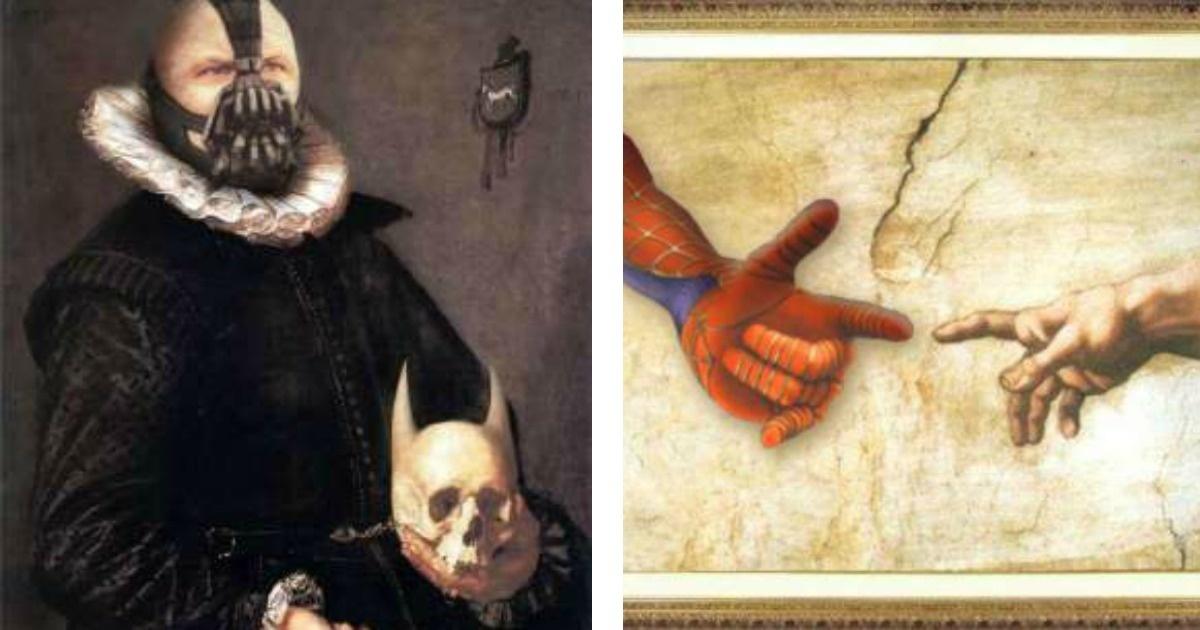 Superheroes que también incursionaron en obras de Arte