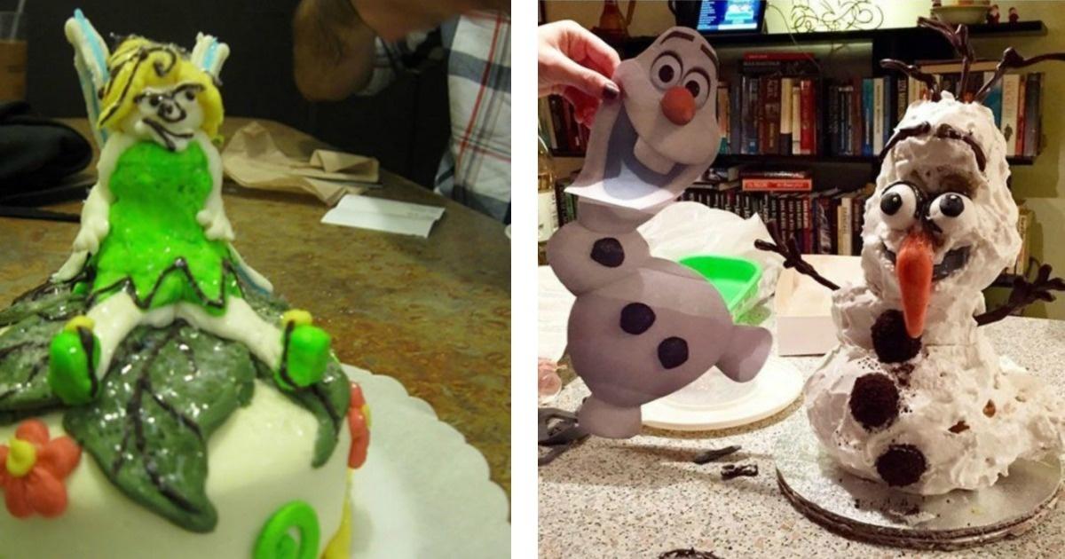 12 Pasteles de cumpleaños que no salieron como se esperaba