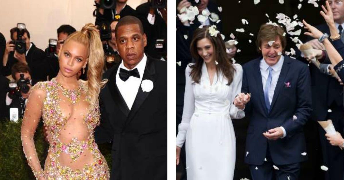 15 famosos que tuvieron bodas super sencillas